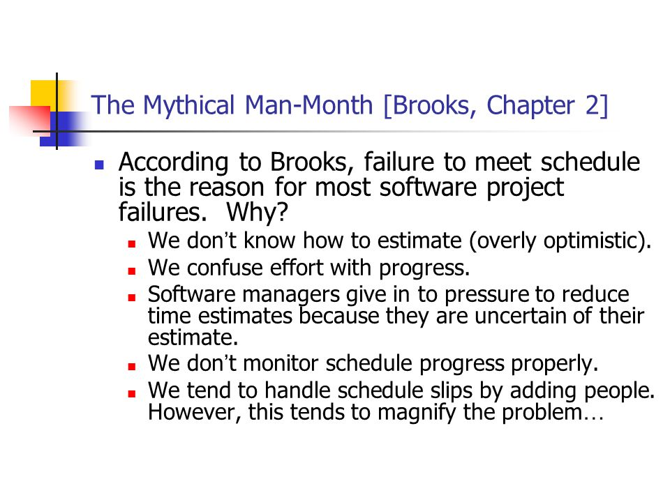 The Mythical Man-Month [Brooks, Chapter 2]